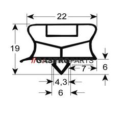 Lågepakning 555 x 390 mm - G0815