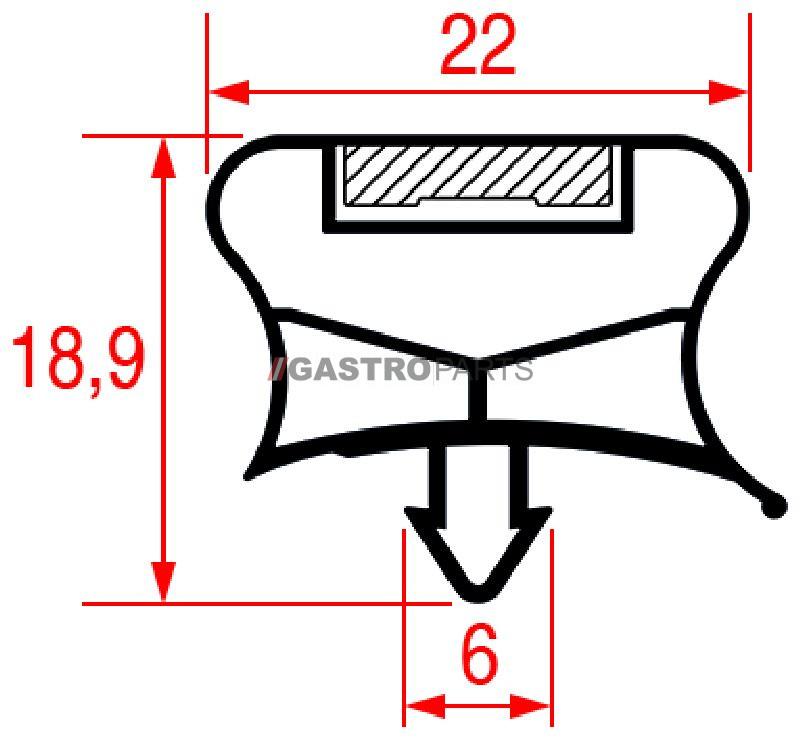 Skuffepakning 485 x 290 mm - G0356