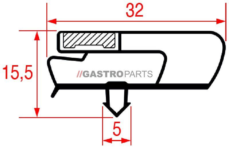 Skuffepakning 385 x 580 mm - G0933