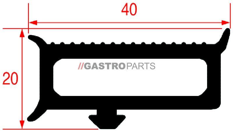 Dørpakning 6 meter - G0351